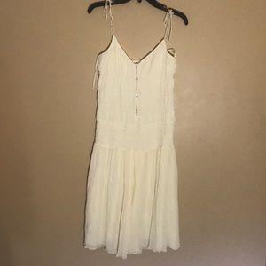 EUC Mango Cream Midi Dress